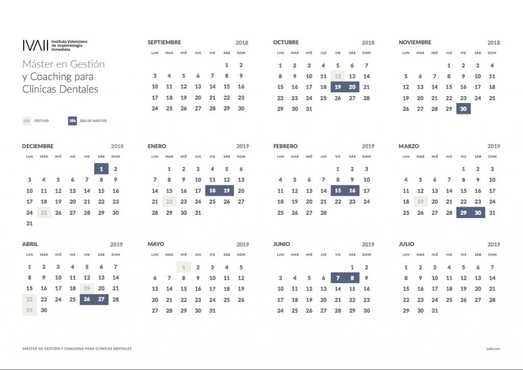 CalendarioMaster2018/2019
